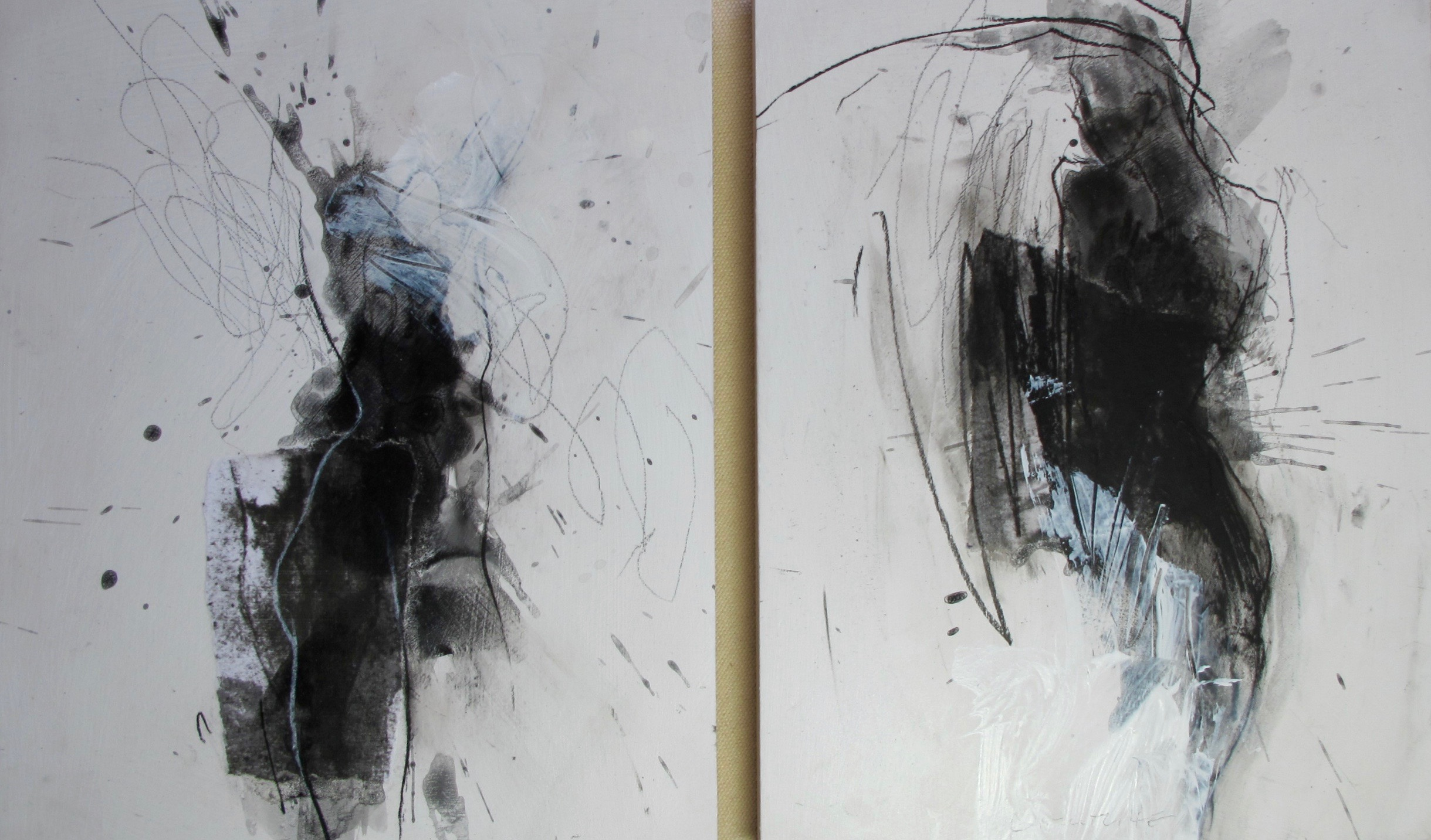 """Two new pieces, Both """"Untitled"""", 10""""x 8"""", mixed media on wood, Copyright David Limrite"""