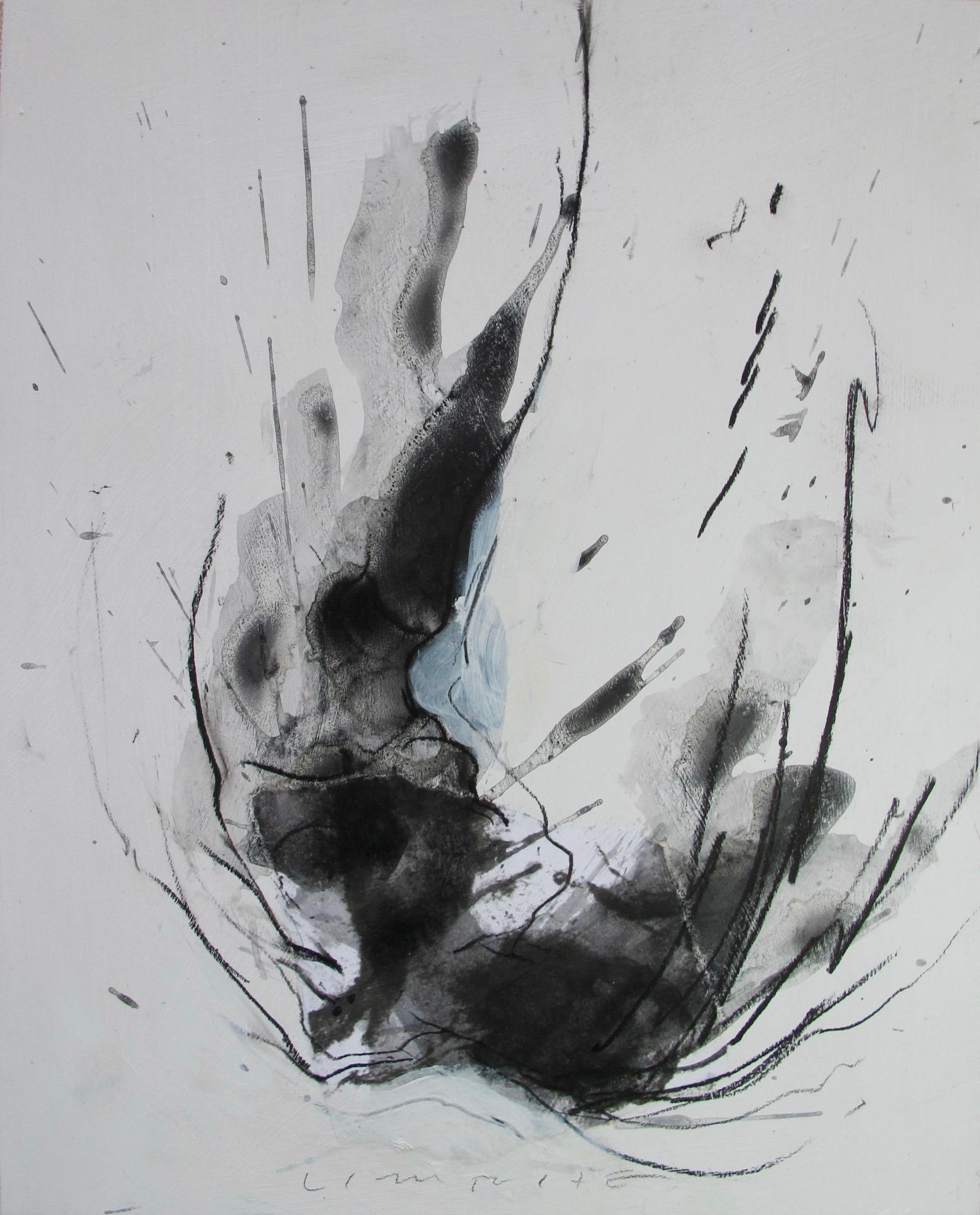 """Untitled"", 10""x 8"", mixed media on wood, Copyright 2016 David Limrite"