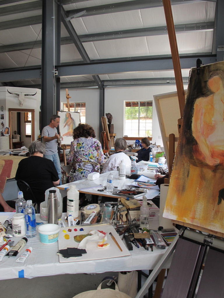 Previous workshop at the Hannon Art Barn (above)