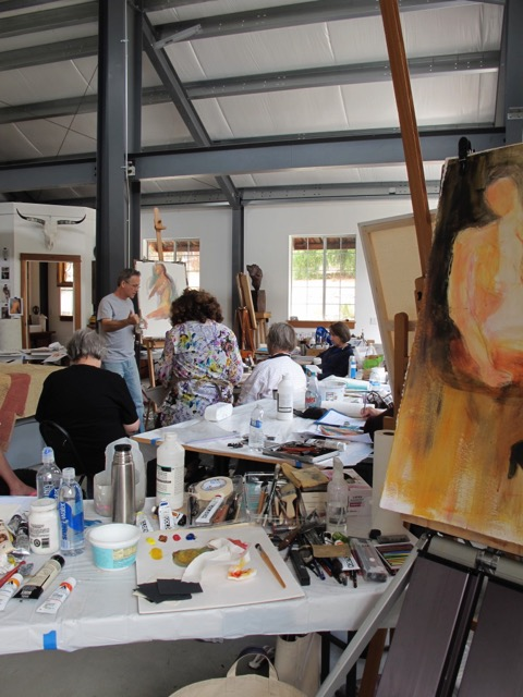 Previous workshop at the Art Barn (above)