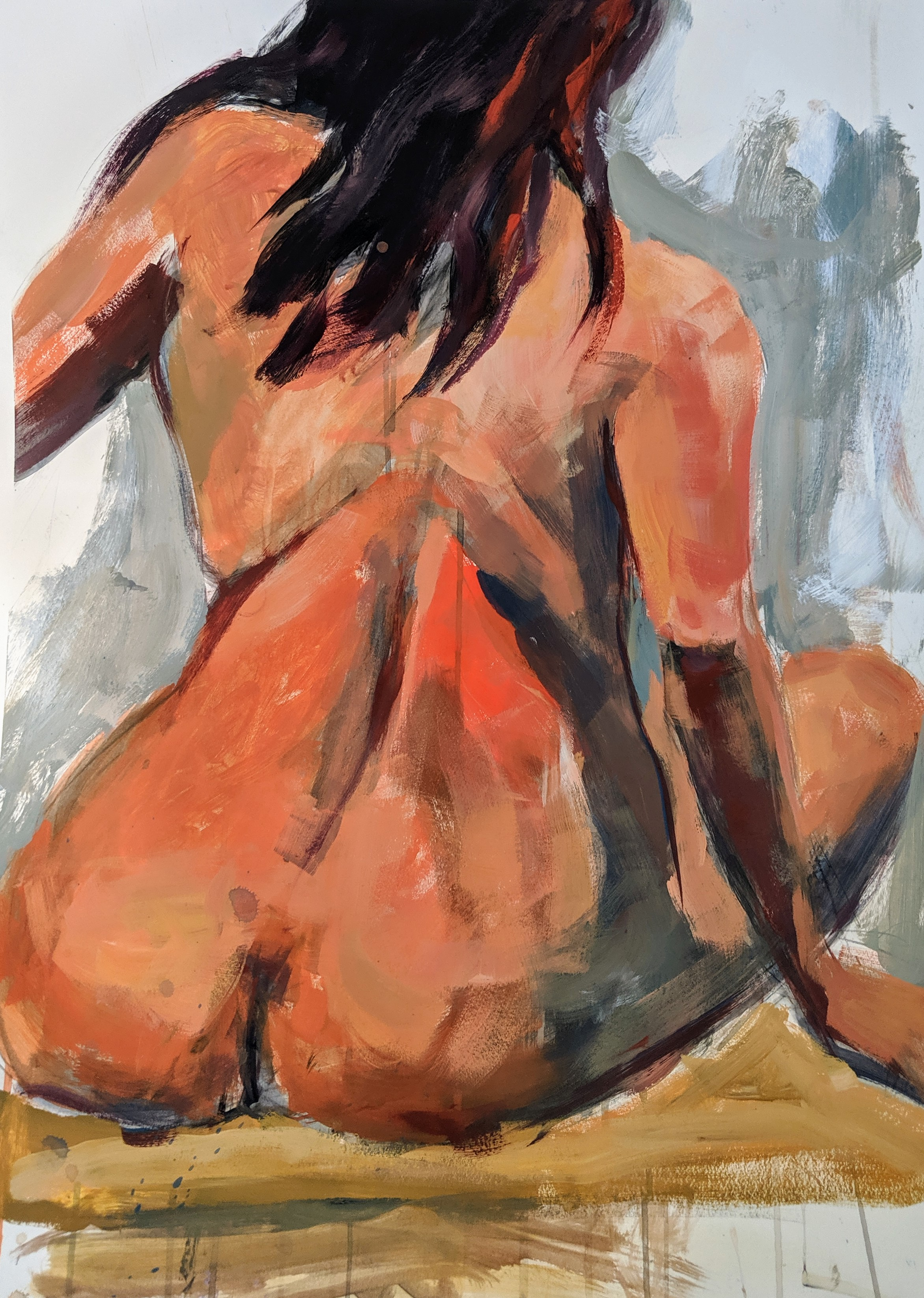 ©2019 Maria Kolligian | Figure Painting & Drawing Workshop, San Luis Obispo County (Arroyo Grande, CA) | David Limrite, Instructor