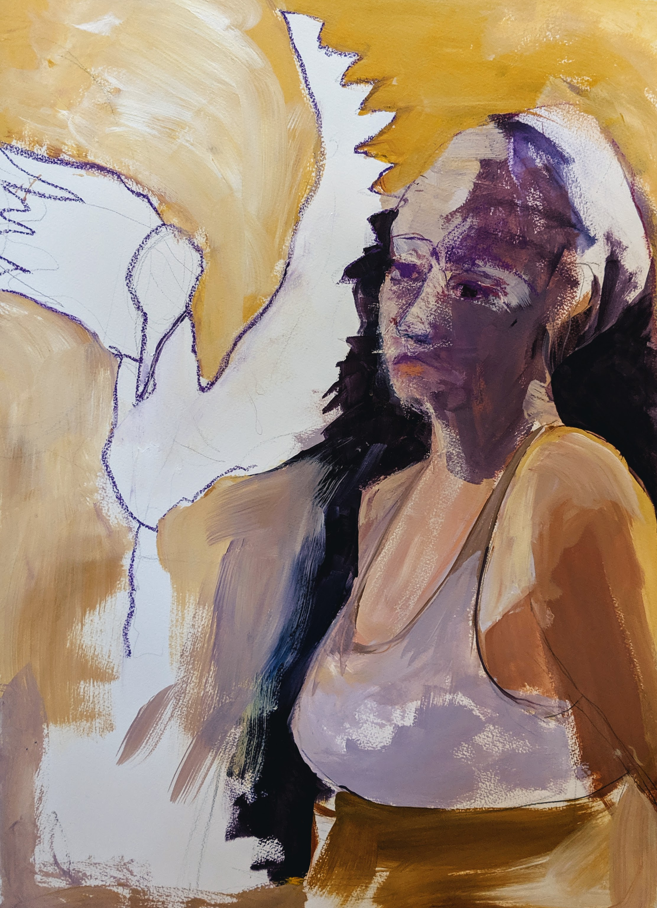 ©2019 Tamara Geenebaum  | Figure Painting & Drawing Workshop, San Luis Obispo County (Arroyo Grande, CA) | David Limrite, Instructor