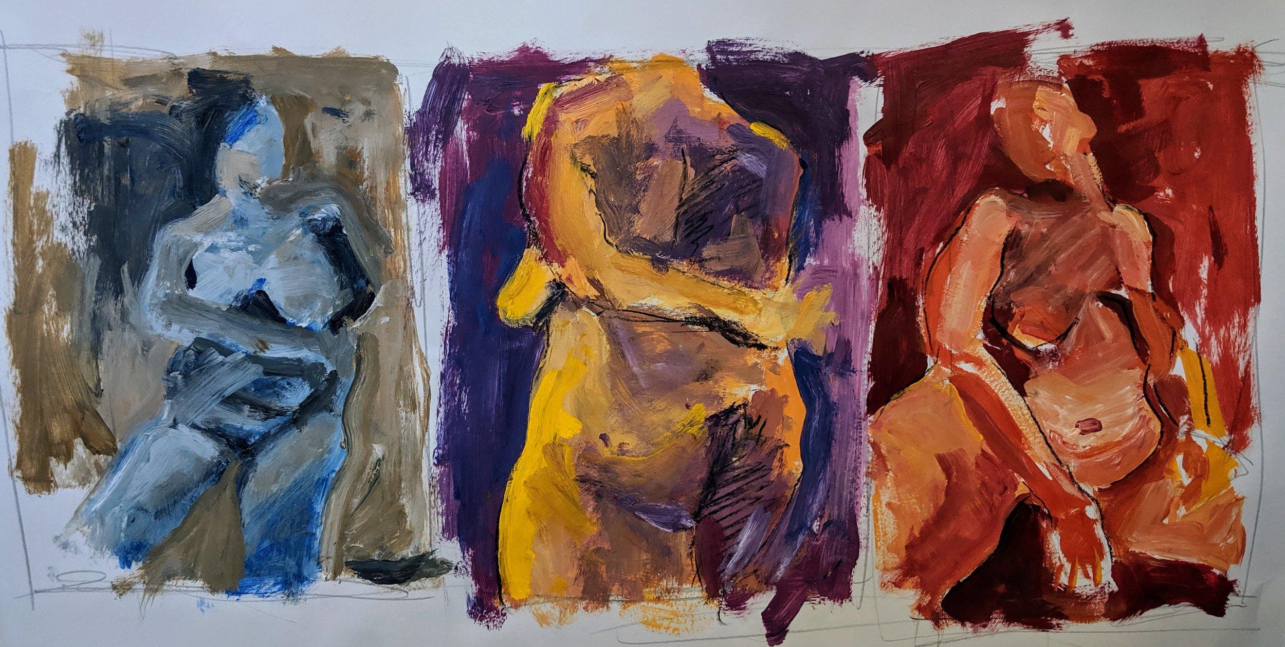 ©2019 Marie Ramey | Figure Painting & Drawing Workshop, San Luis Obispo County (Arroyo Grande, CA) | David Limrite, Instructor