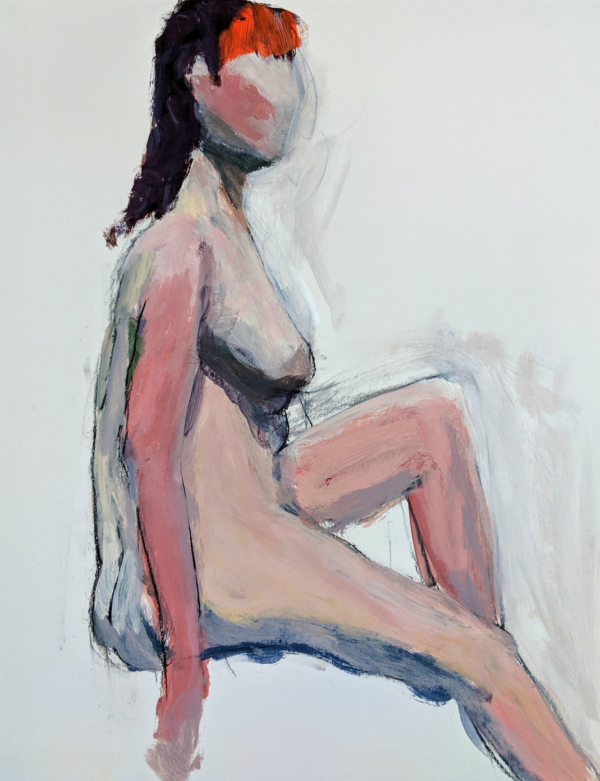 ©2019 Gail Reisman  | Figure Painting & Drawing Workshop, San Luis Obispo County (Arroyo Grande, CA) | David Limrite, Instructor