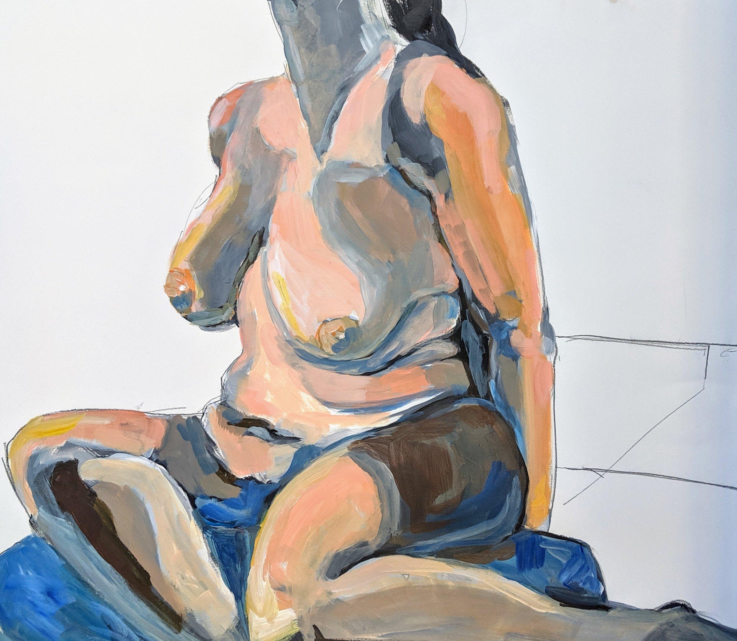 ©2019 Lori Wise | Figure Painting & Drawing Workshop, San Luis Obispo County (Arroyo Grande, CA) | David Limrite, Instructor