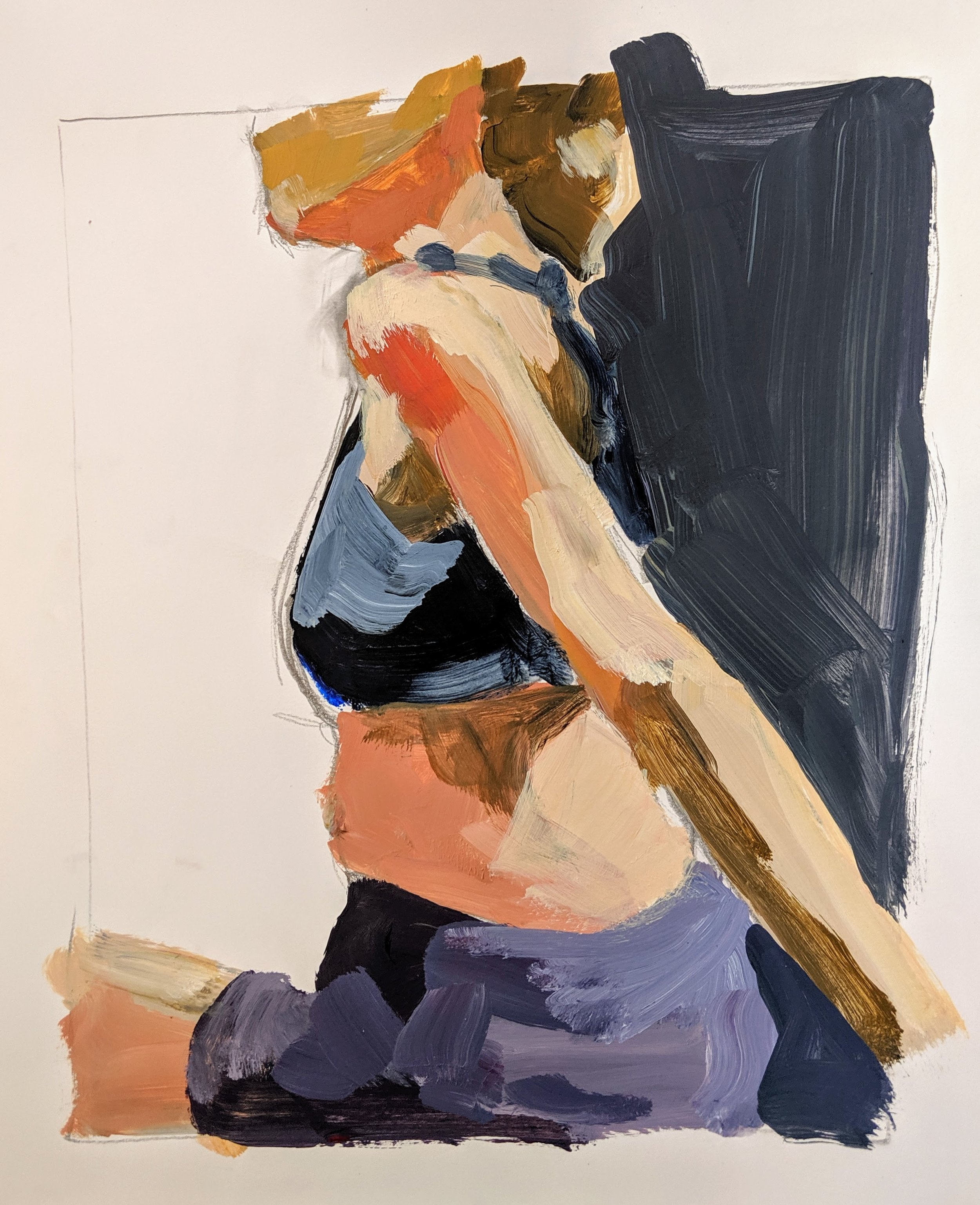 ©2019 Jane Feil  | Figure Painting & Drawing Workshop, San Luis Obispo County (Arroyo Grande, CA) | David Limrite, Instructor