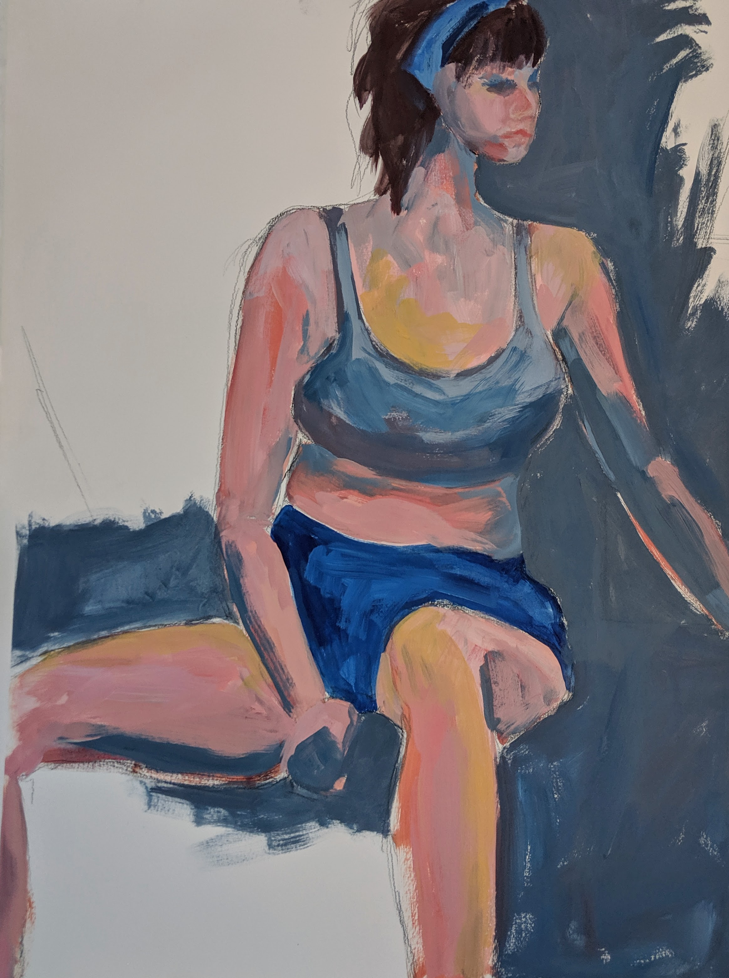©2019 Lois Reinis  | Figure Painting & Drawing Workshop, San Luis Obispo County (Arroyo Grande, CA) | David Limrite, Instructor