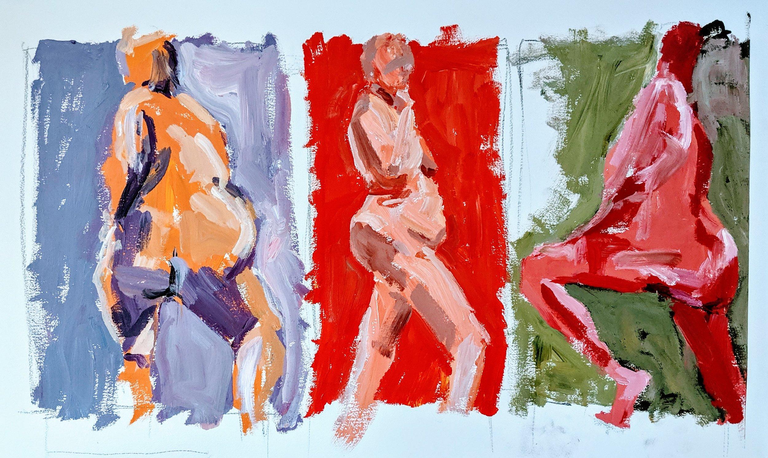 ©2019 Julie Winter | Figure Painting & Drawing Workshop, San Luis Obispo County (Arroyo Grande, CA) | David Limrite, Instructor