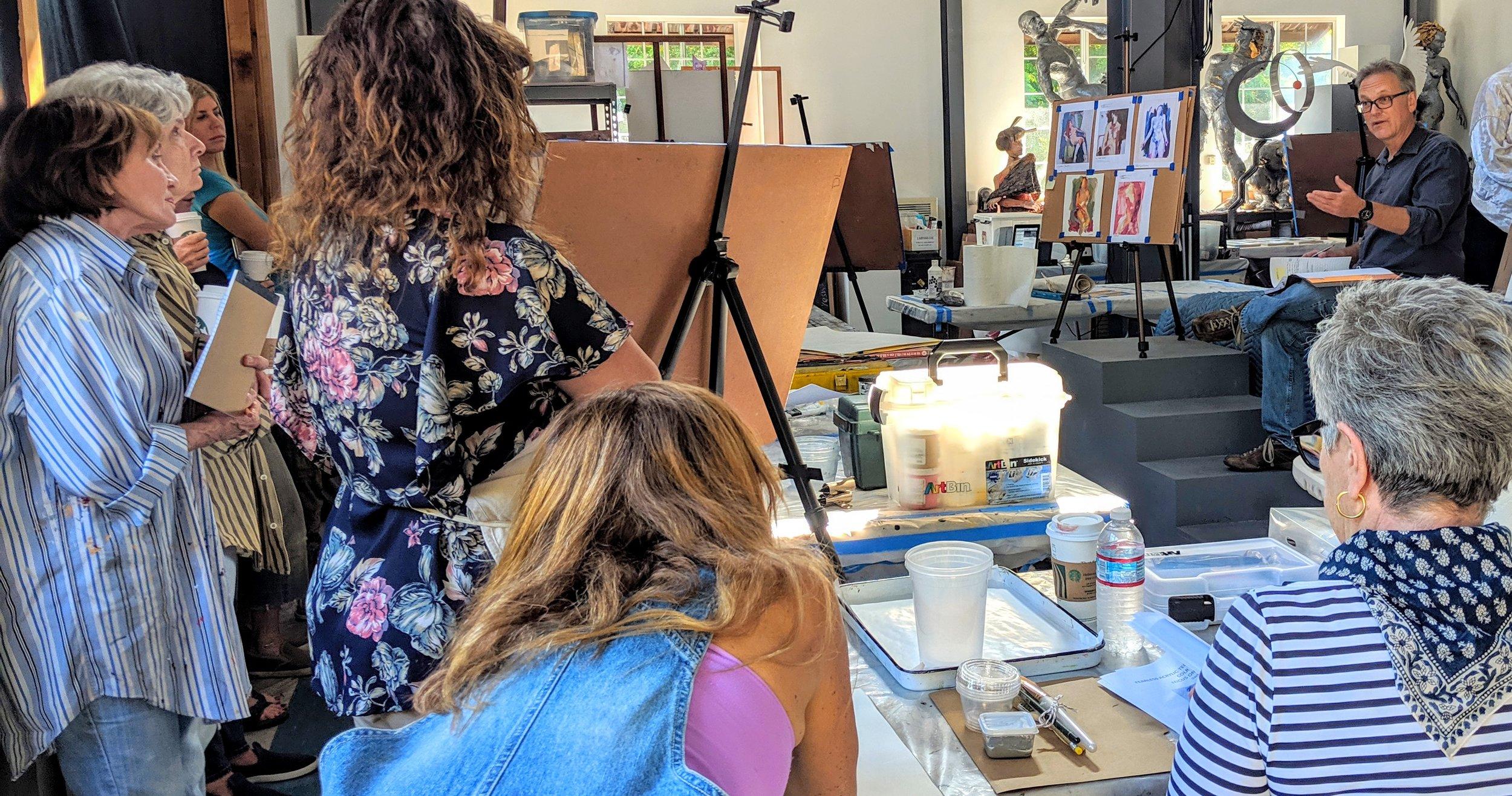 July Art Barn Workshop: Preparing for a Painting Demonstration