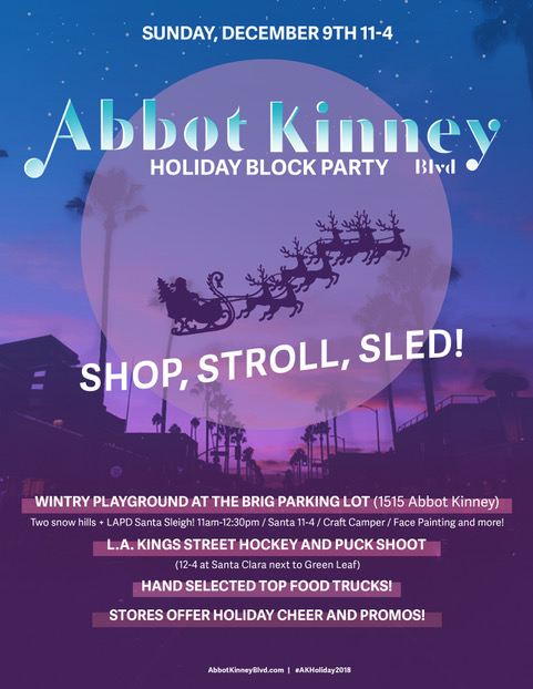Abbot Kinney Snow Day 2018