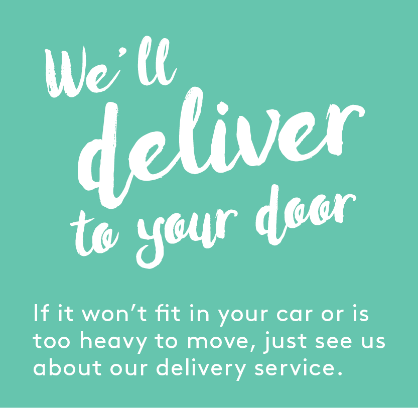 Our delivery cost also includes unpacking and removing unwanted packaging.