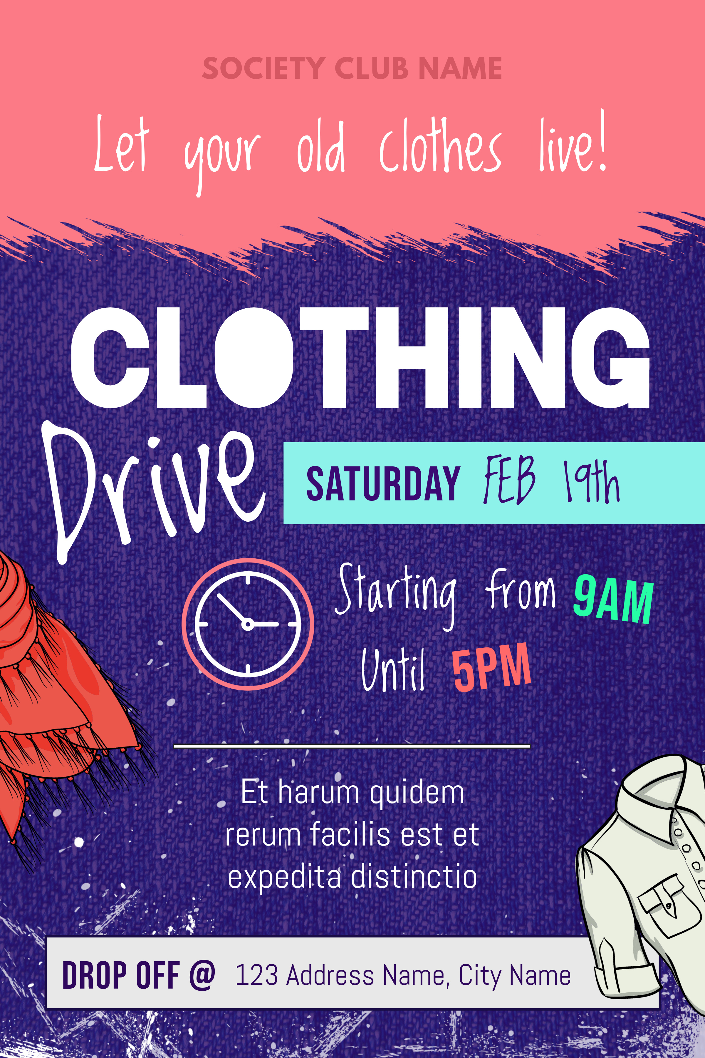 Copy of Pink and Purple Clothing Drive Fundriaisng Poster.jpg
