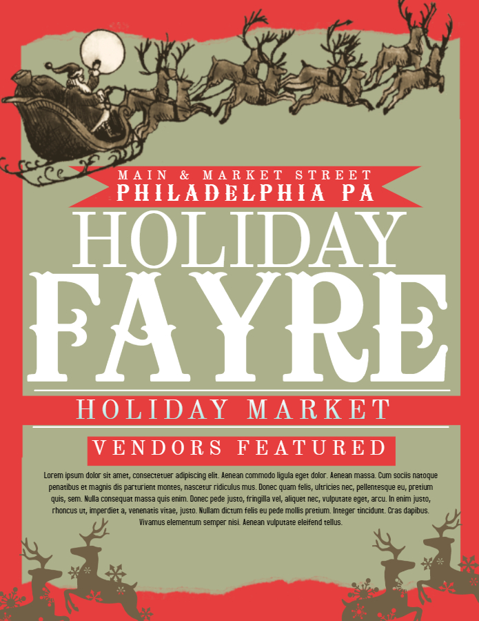 Holiday Fayre Flyer
