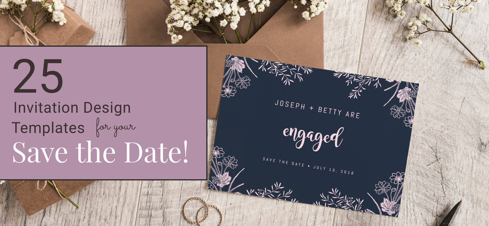 25 Invitation Design Templates For Your Save The Date Design Studio