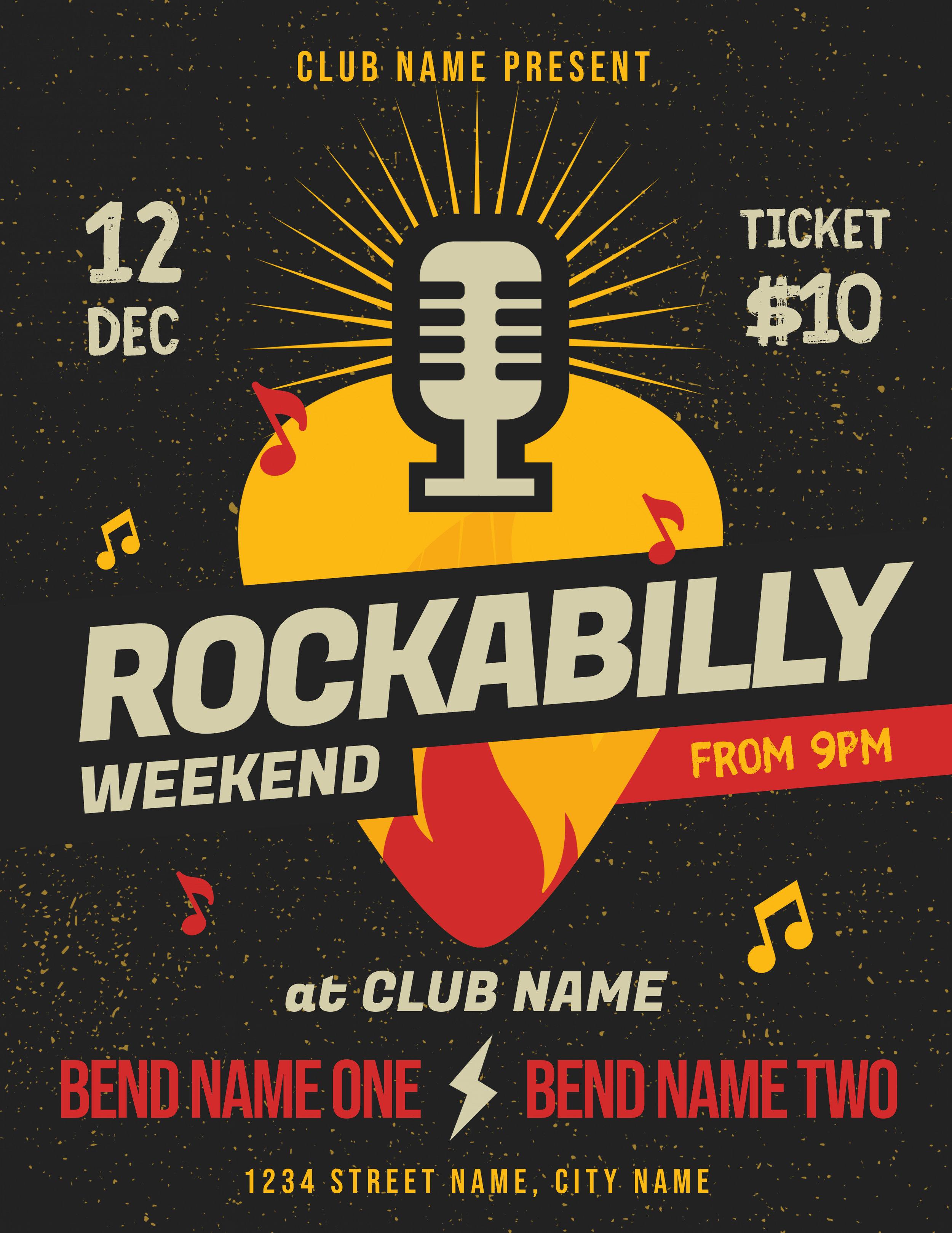 Rockabilly Music Event Flyer Template.jpg