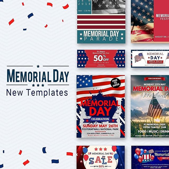 The countdown to Memorial Day starts now! Gear up your marketing with awesome graphics to promote your parades, barbecues and sales. 💯🇺🇸 #memorialday #memorialdayweekend #memorialdaysale #memorialdayparade #marketingagency #digitalmarketingagency #marketingmanager #socialmediamanager #digitalmarketingmanager #marketer #digitalmarketer #marketingtips #smallbusinesslife #smallbusinessowner #entrepreneur #marketing #socialmediamarketing #marketingtools #love #happy #memorial #celebration #poster #flyers #flyerdesign #posterdesign #daily #instadaily #instaphoto #instapic