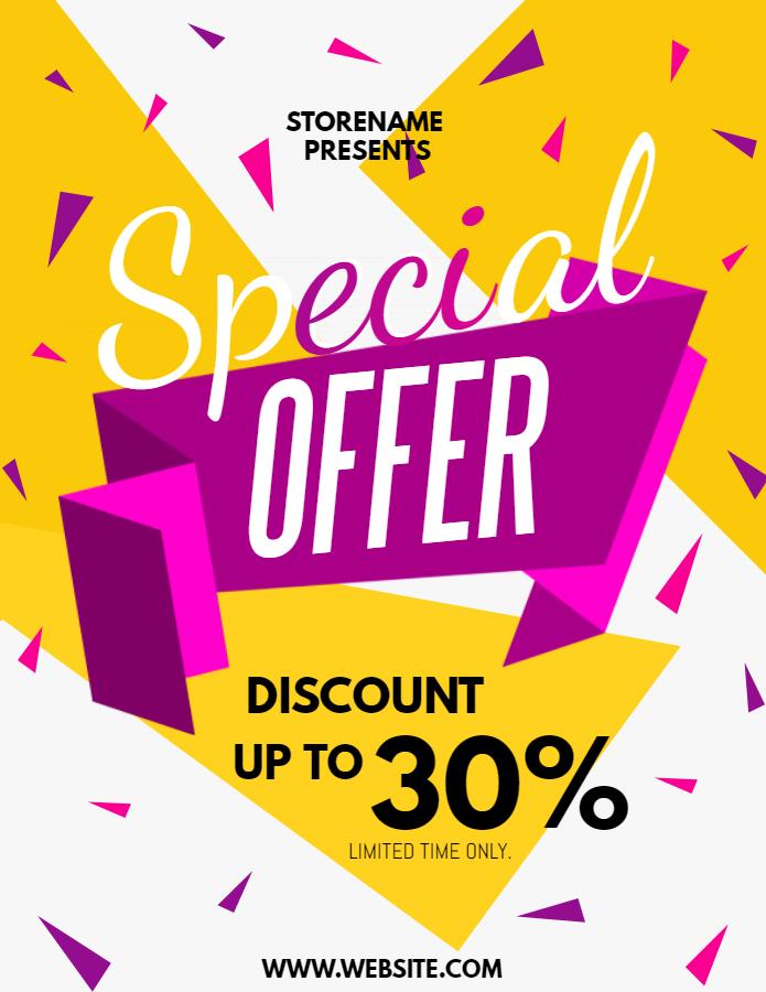 Special sale retail flyer
