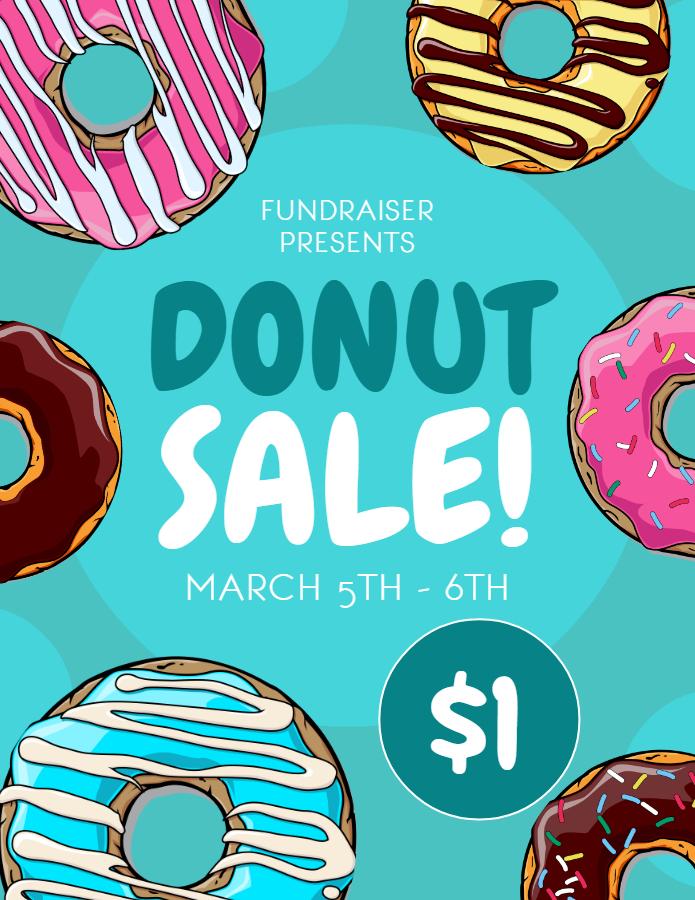 Donut Bake sale flyer