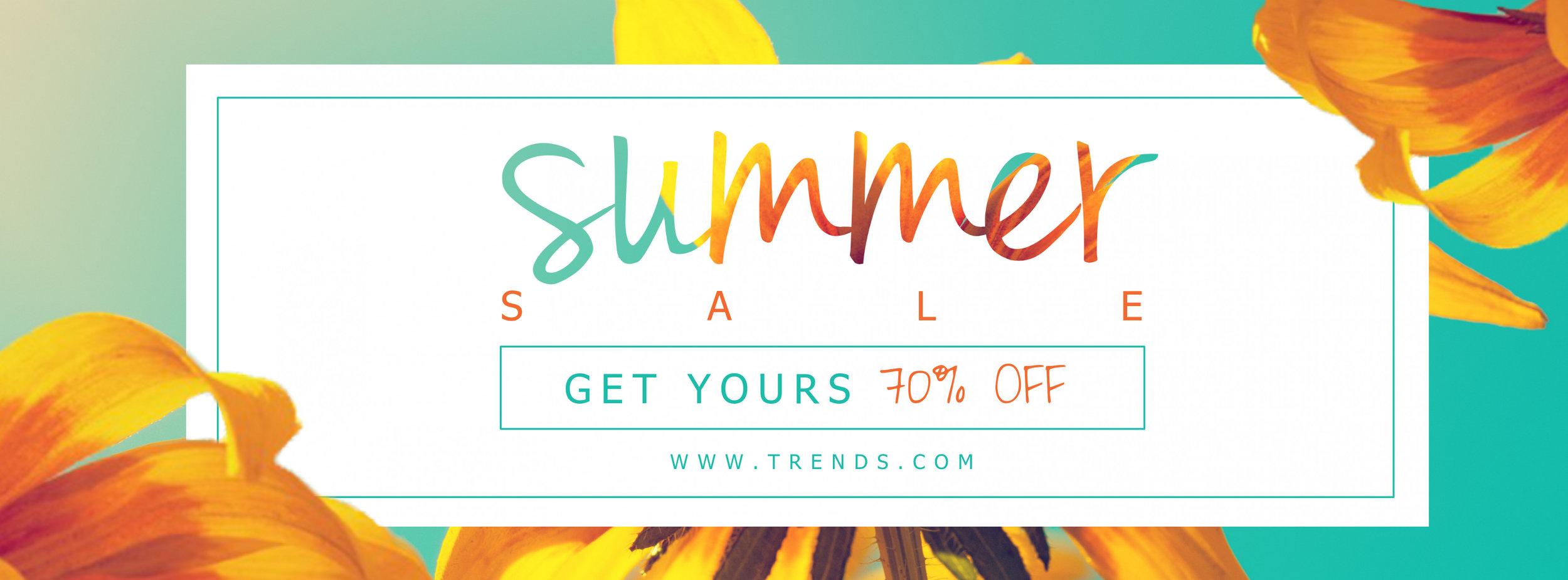 Bright summer sale banner