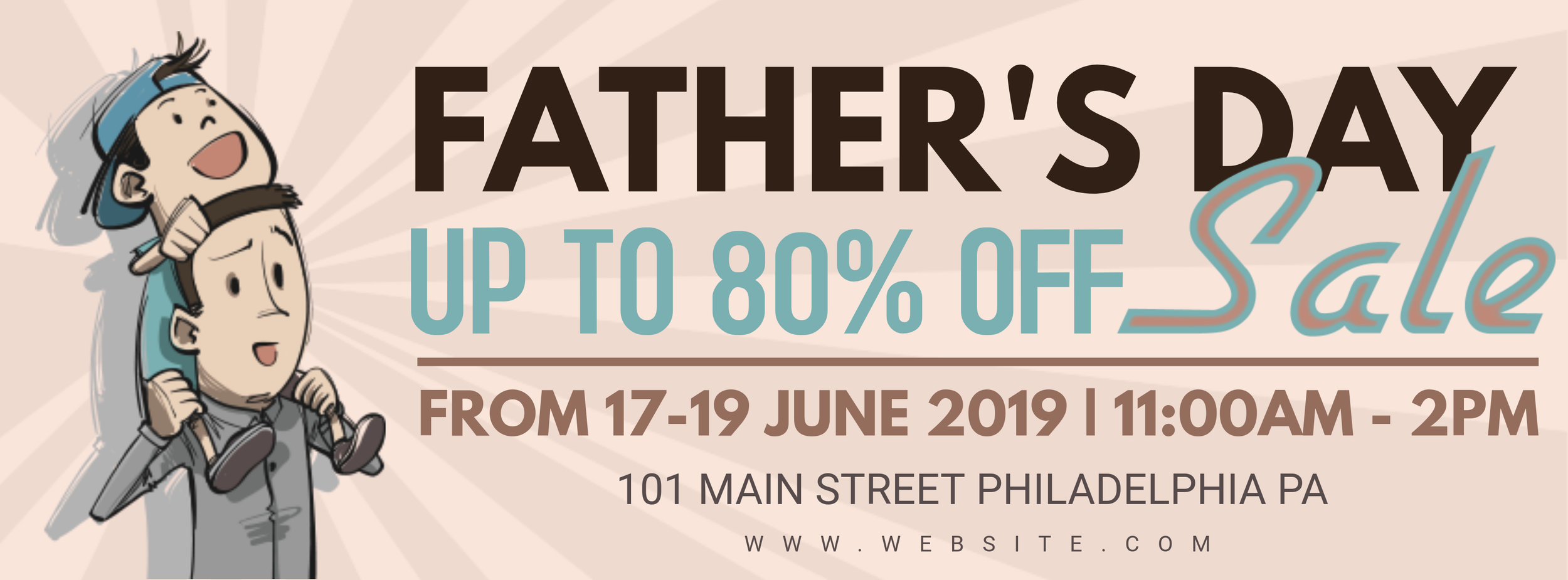 Father's day sale retail banners