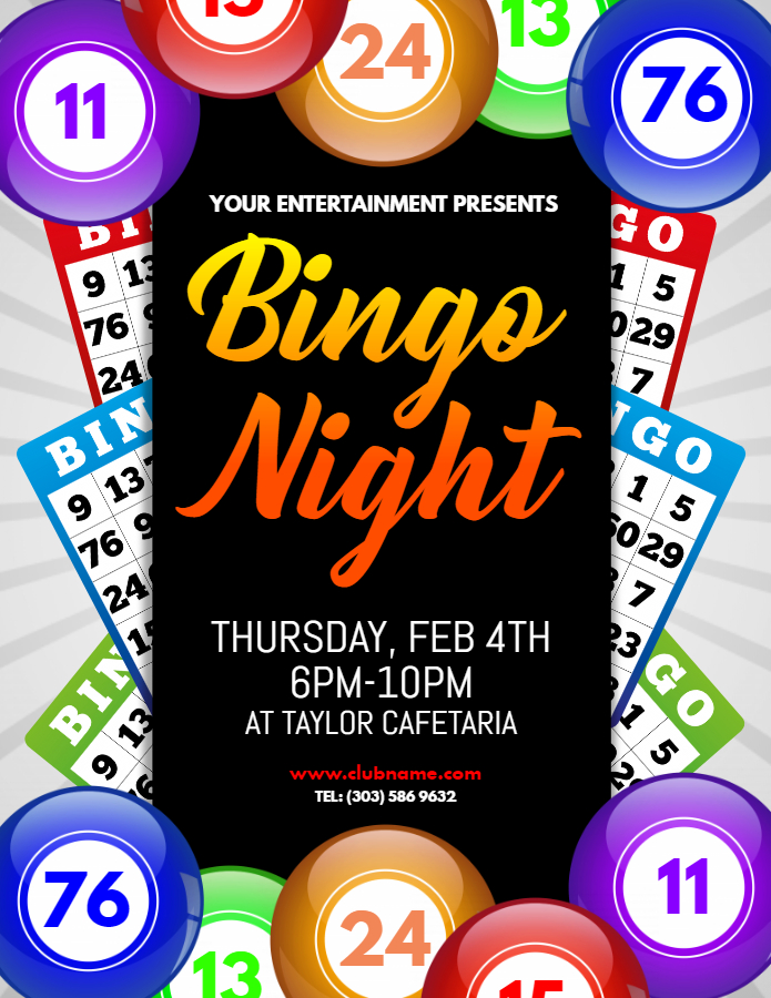 Bingo contest flyer
