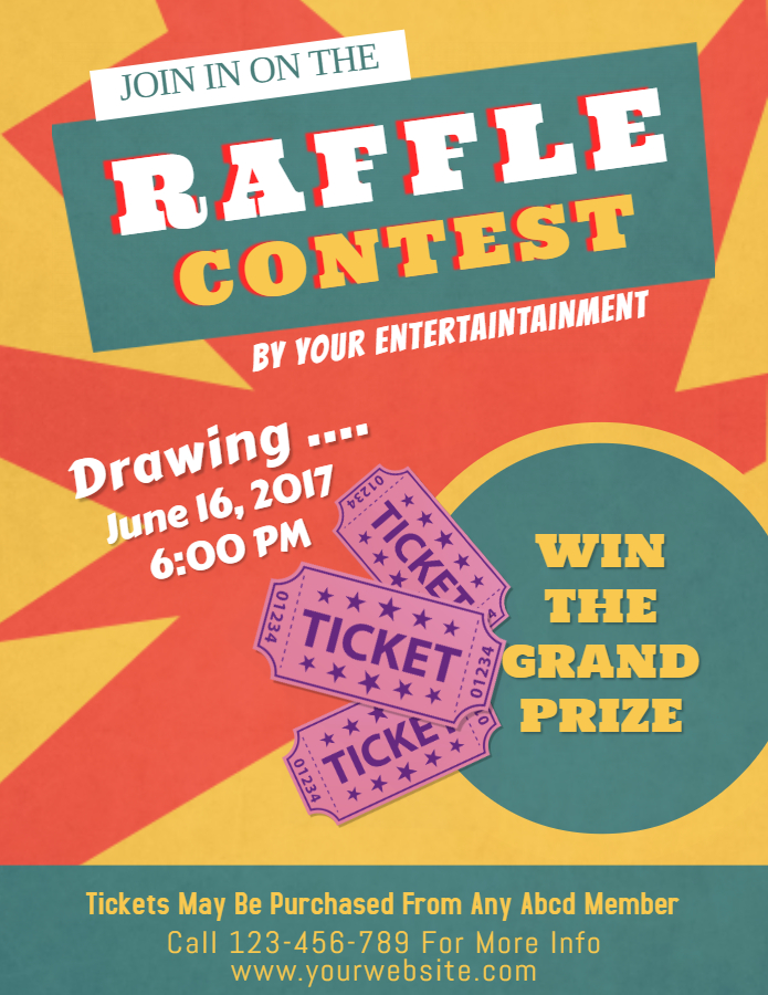 Raffle contest flyer