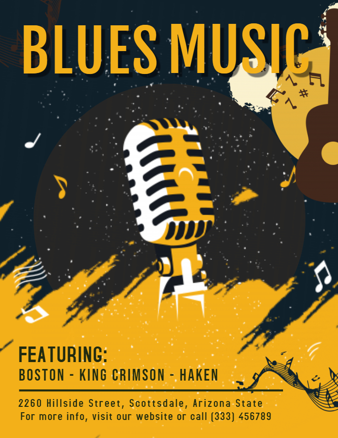 Blues Music concert poster