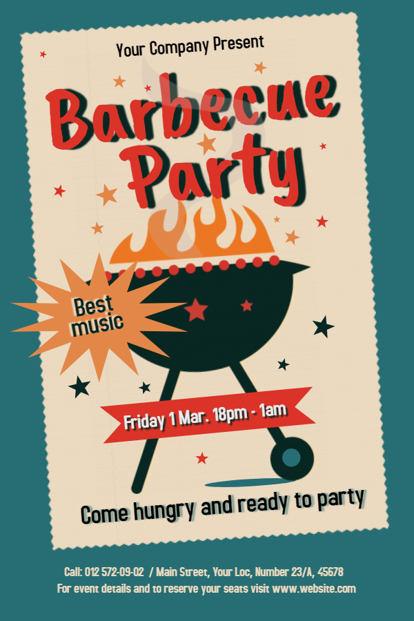 Old school barbecue flyer