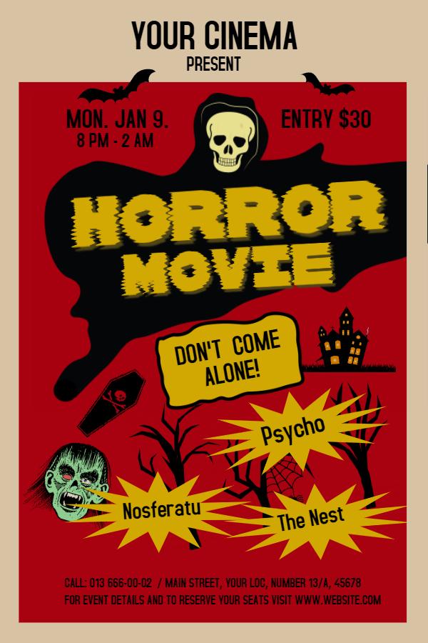 Vintage Horror Movie Poster