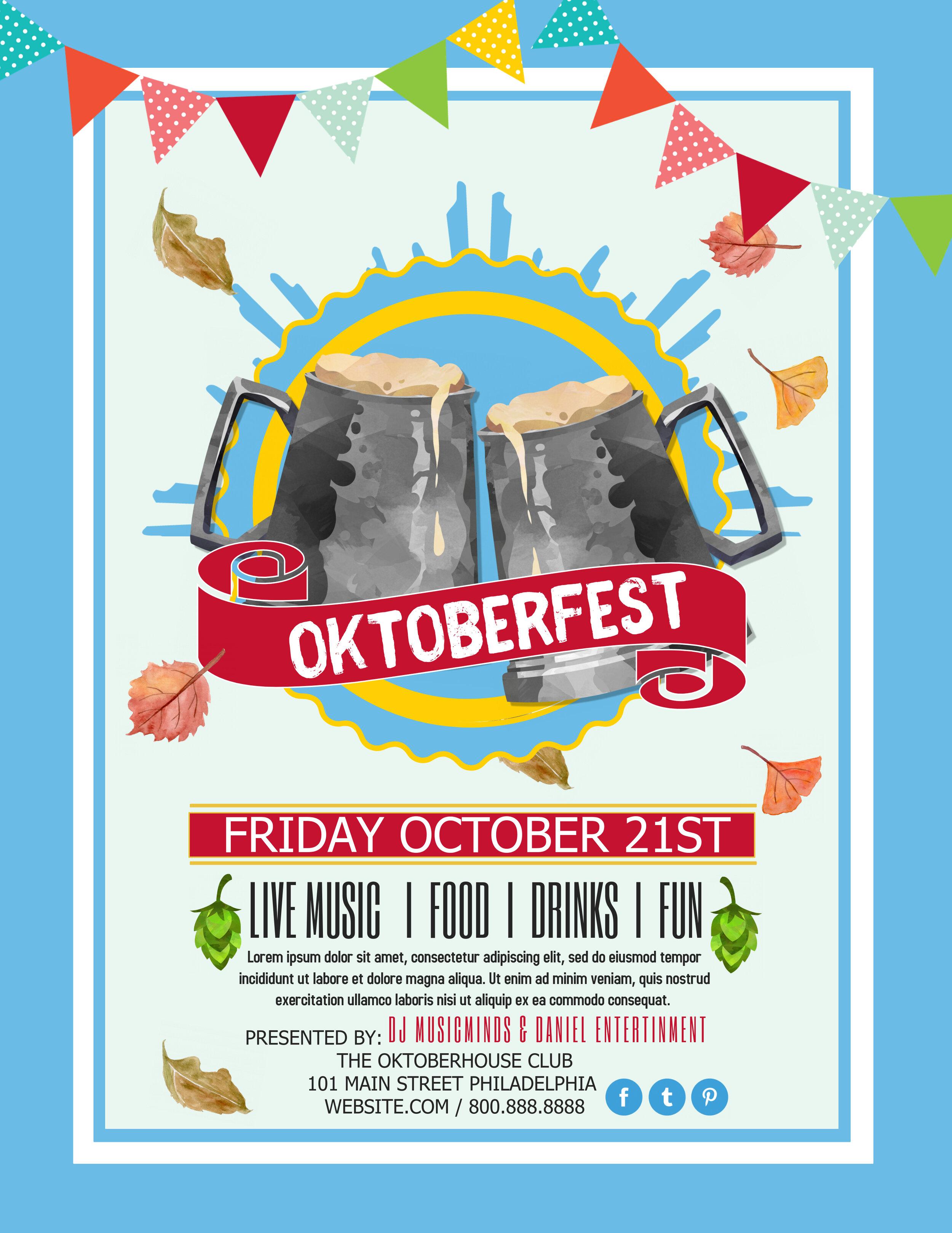 Blue Oktoberfest flyer
