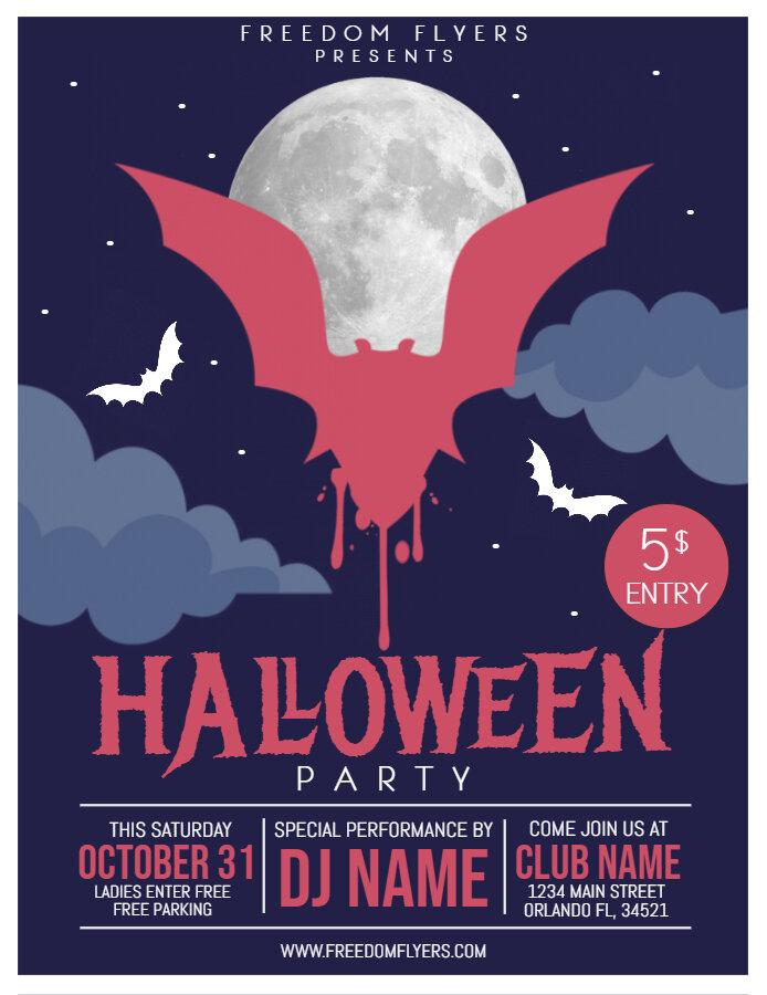 Halloween DJ party flyer