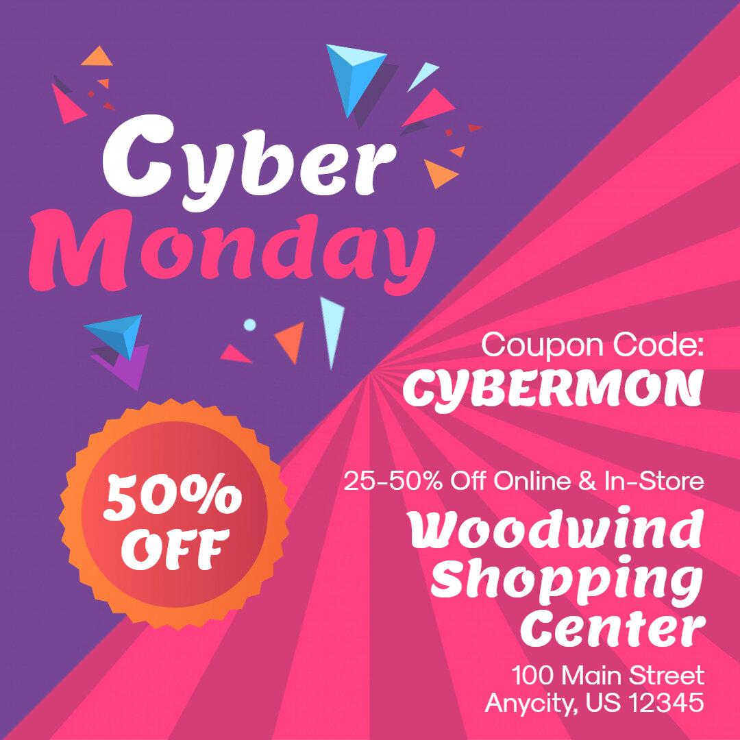 Cyber Monday Sale Advert