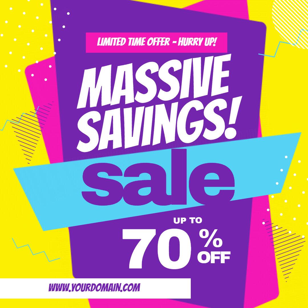 Massive Savings Deal Sale