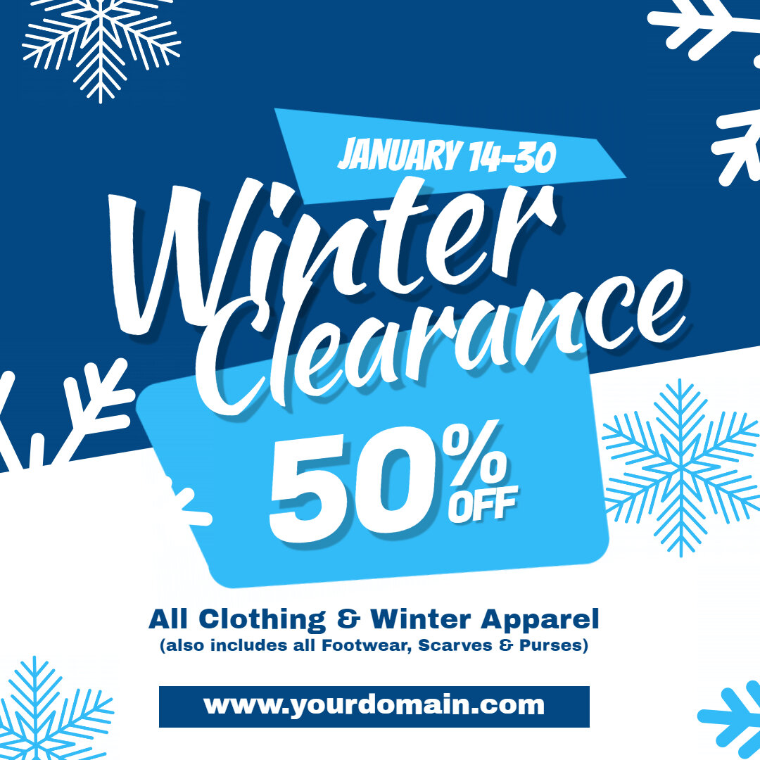 Winter Clearance Sale Ad