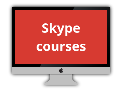 Would you like to study from the convenience of your home? Do you travel a lot? Skype lessons are the answer.