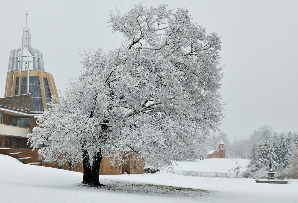 The shrine in winter. Click on the image for a larger view. Photo: Jonald Arcasitas