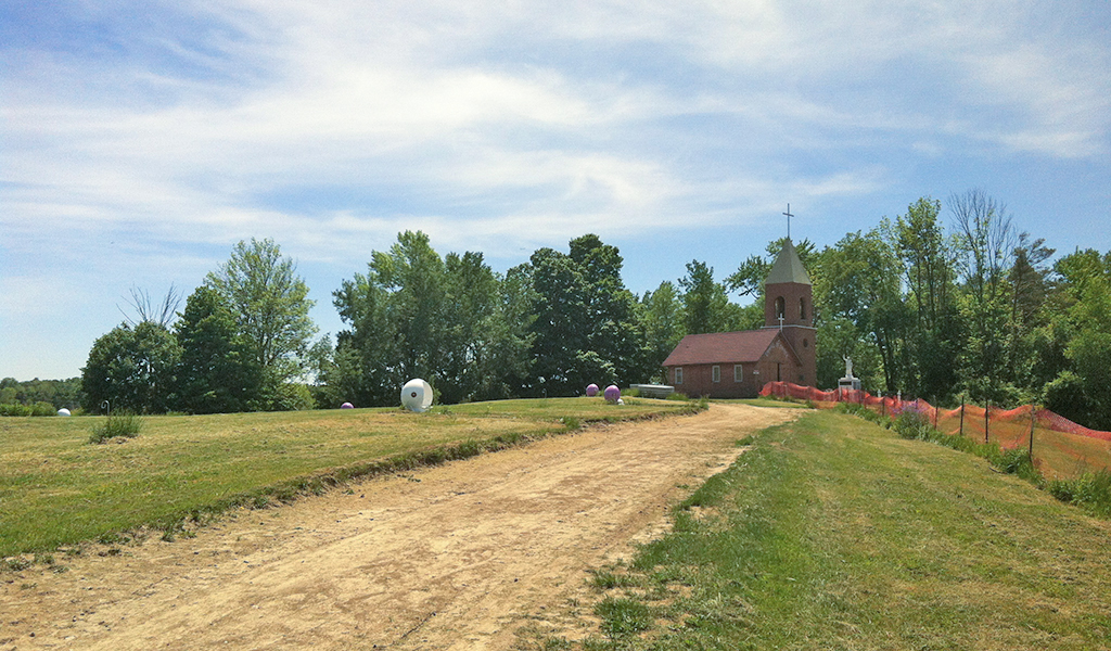 The beginning of the Rosary Path at Marylake and the Chapel of Grace. Click on the image for a larger view. photo.