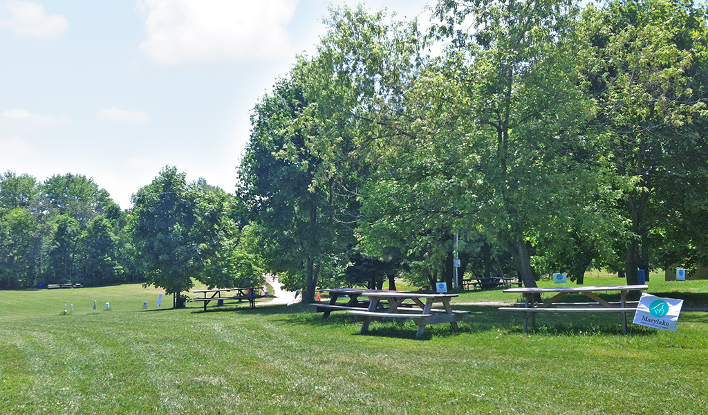 One of several scenic picnic spots at Marylake.