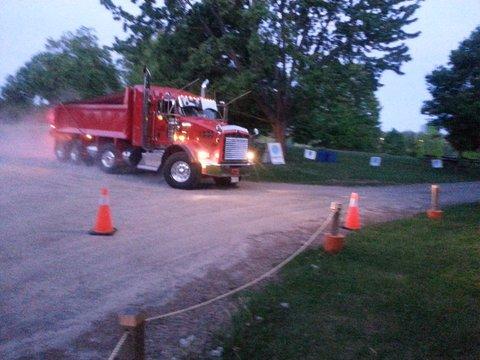 Trucks arriving…