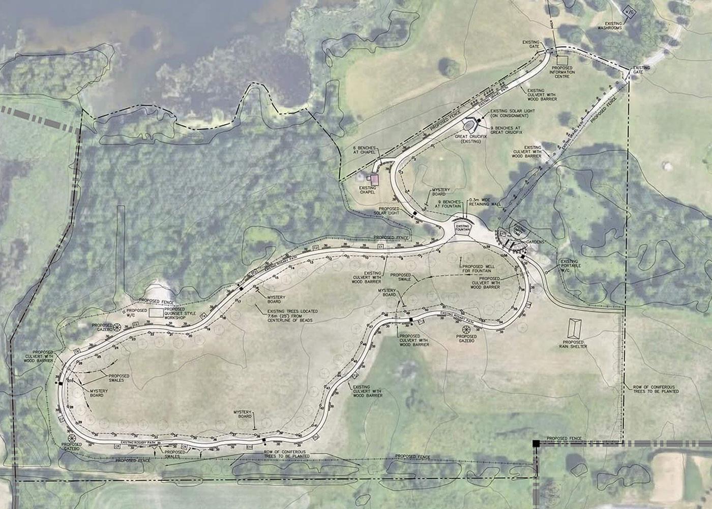 The 1.5 kilometer Rosary Path at Marylake.
