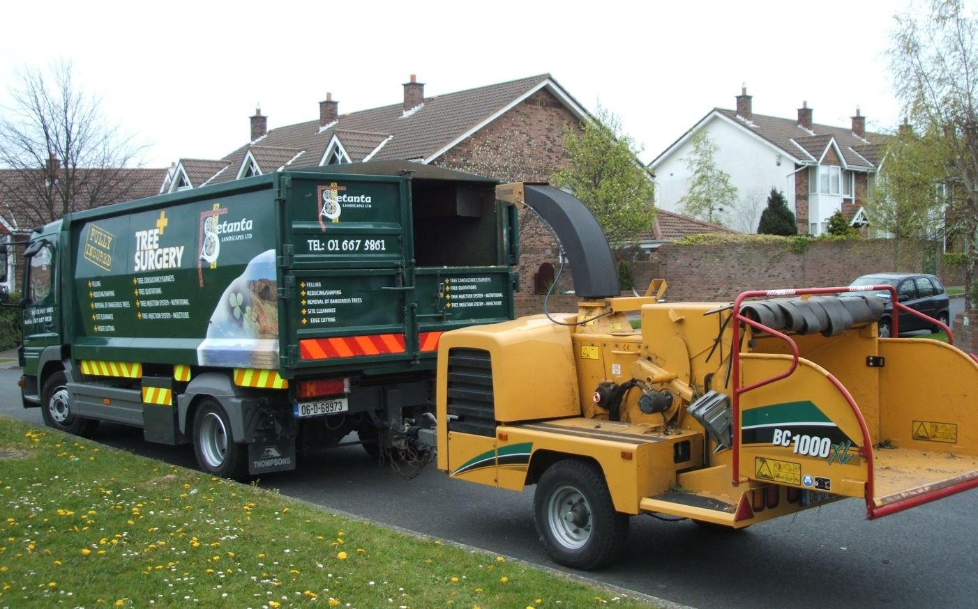 Setanta Tree Care Truck and chipper