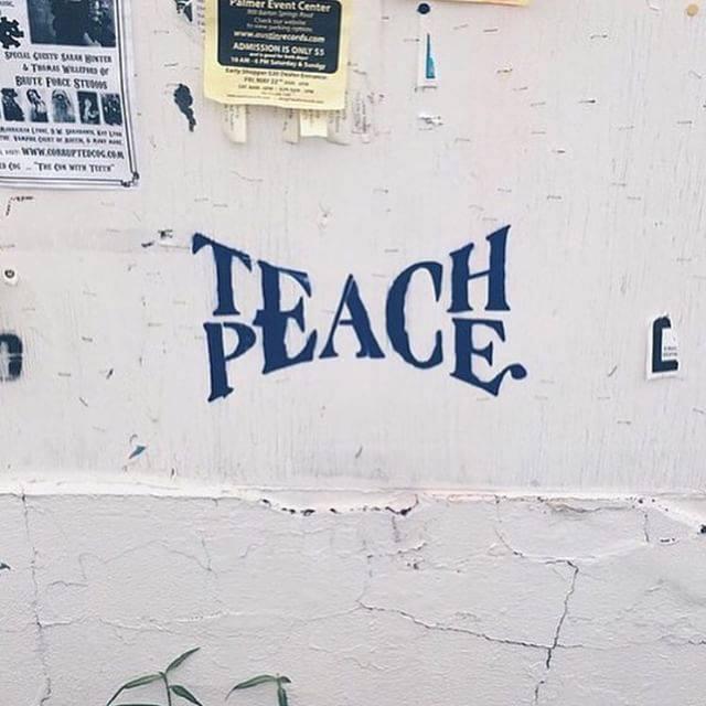 spainonymous :    Teach Peace     #teachpeace