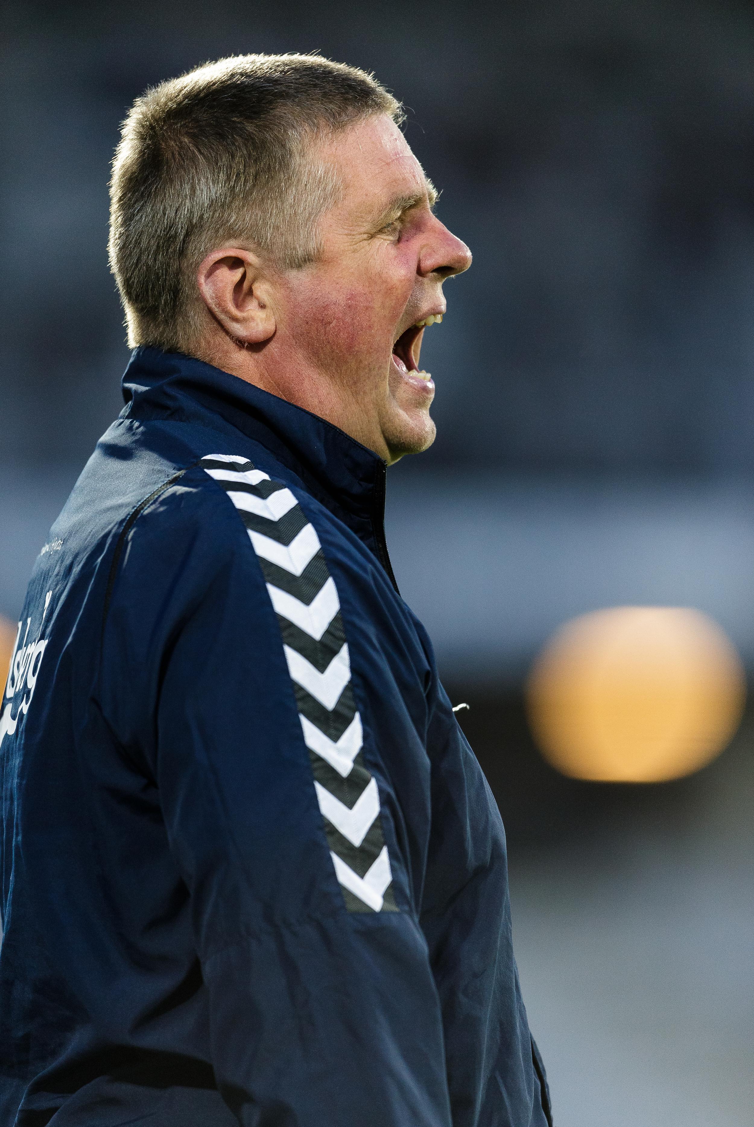 Superligaens med afstand mest råbende træner, Kent Nielsen, har gjort et godt stykke arbejde i OB, som konkurrenterne begynder at anerkende. Foto: Allan Høgholm/Getty Images