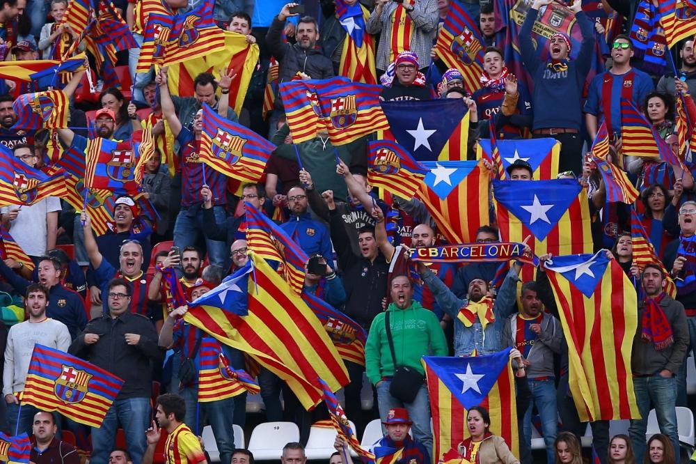 Barcelona-tilhængere ved Copa del Rey finalen i 2015.   Foto: Gonzalo Arroyo Moreno/Getty Images