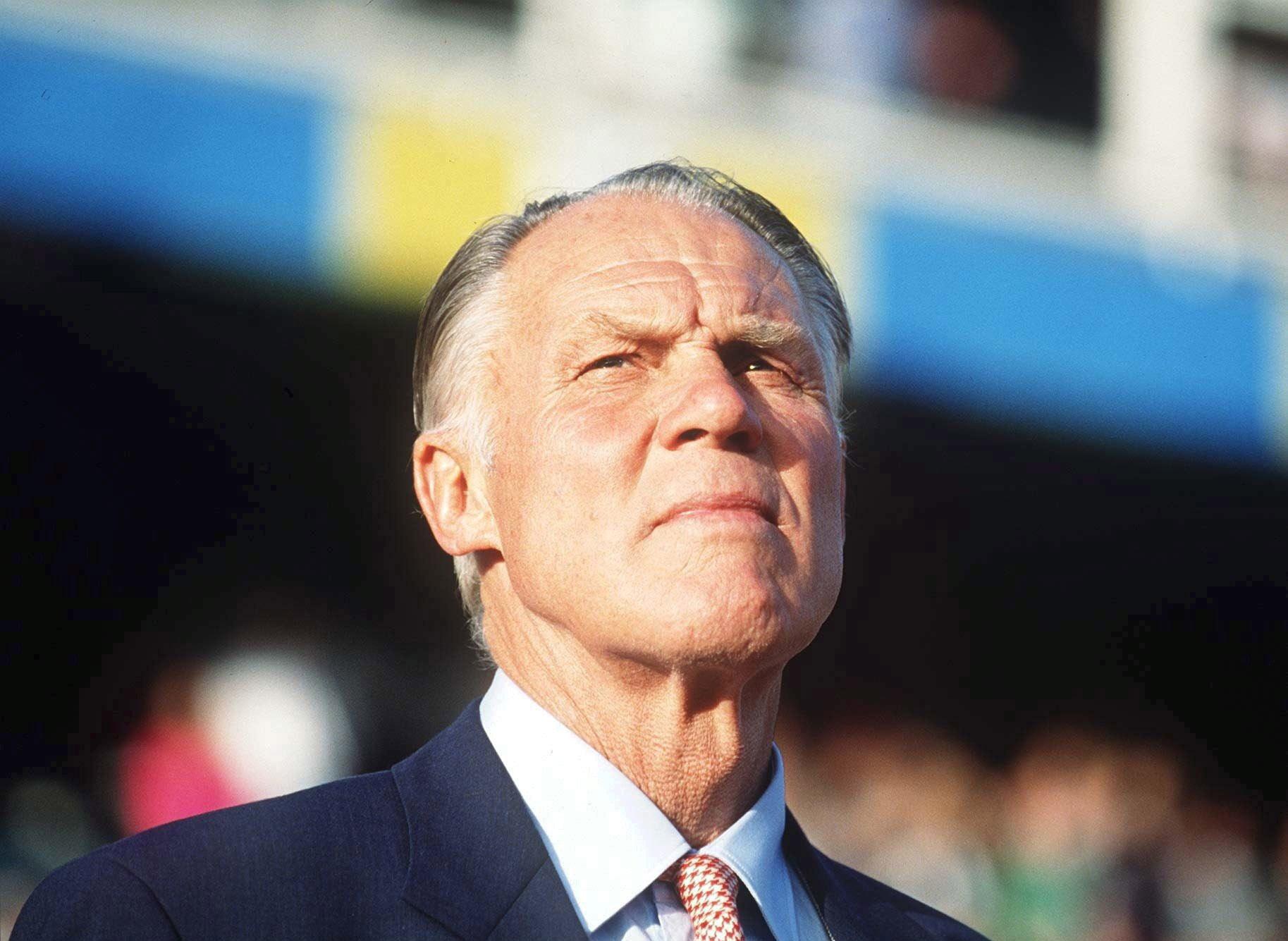 En af fodboldens stærkeste og mest indflydelsesrige hjerner, Rinus Michels. Faderen til totalfodbolden. Foto: Getty Images/Henning Bangen