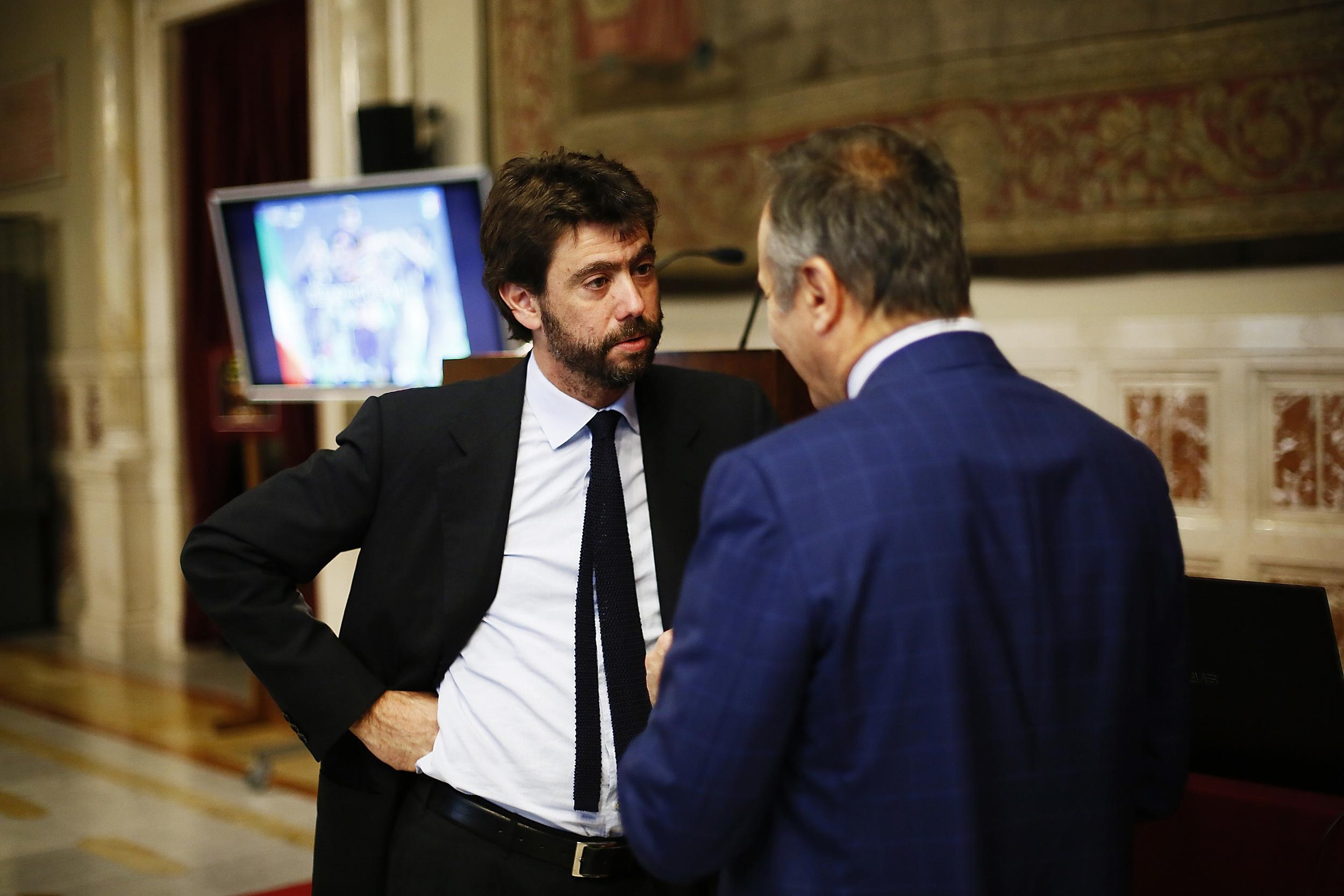 Bestyrelsesformand i Juventus, Andrea Agnelli - med front til billedet - har siddet på posten siden 2010. Foto: Ernesto Ruscio/Getty Images