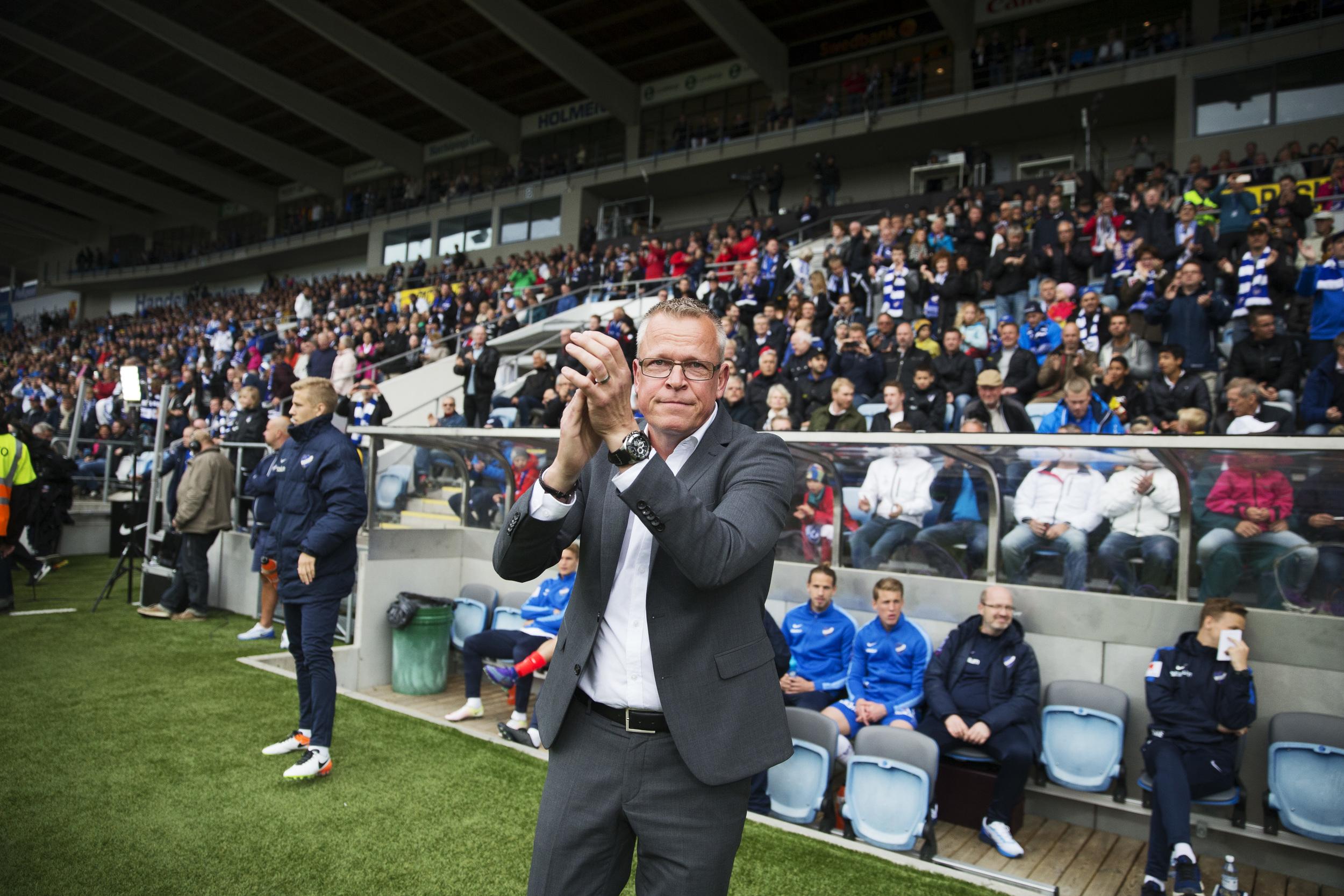 Janne Andersson sagde farvel til Norköping og kunne være blevet ny Brøndby-træner. I stedet endte han i april med at sige ja til at afløse Erik Hamrén som ny svensk landstræner. Foto: Getty Images/Nils Peter Nilsson