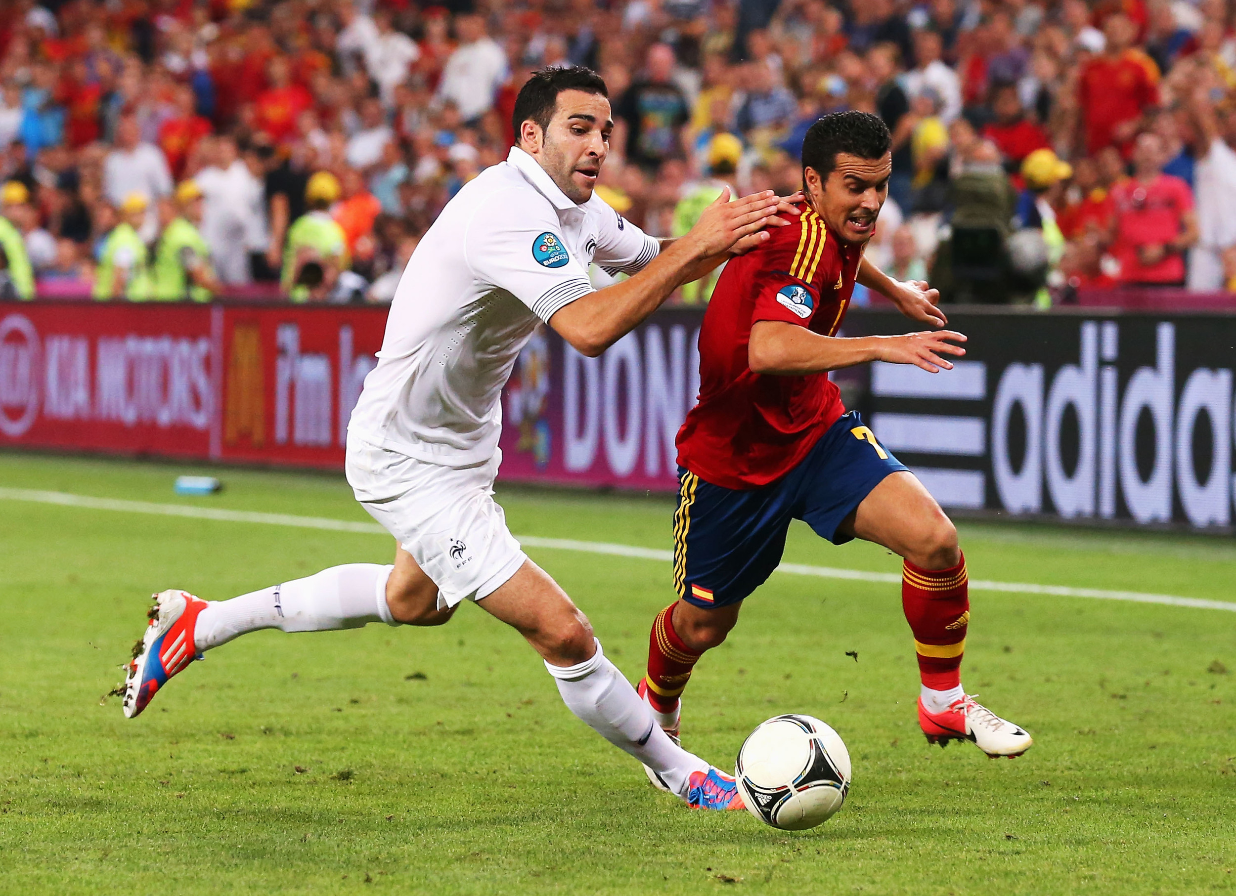 Pedro i aktion under slutrunden i 2012. Foto: Getty Images/Alex Livesay