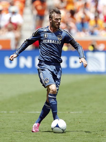 David Beckham i aktion i MLS for Los Angeles Galaxy. Foto: Getty Images/Bob Levey