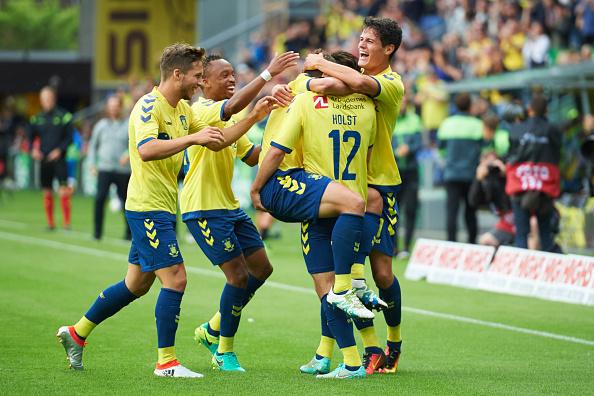 Brøndby har allerede positioneret sig godt i kapløbet om at slutte blandt de øverste seks hold efter de første 26 runder. Foto: Getty Images/Jan Christensen